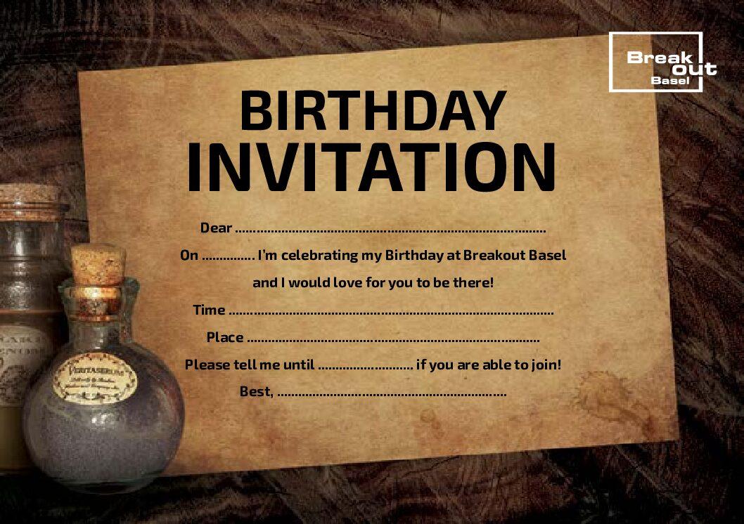 die Geburtstags Einladung zum selber drucken