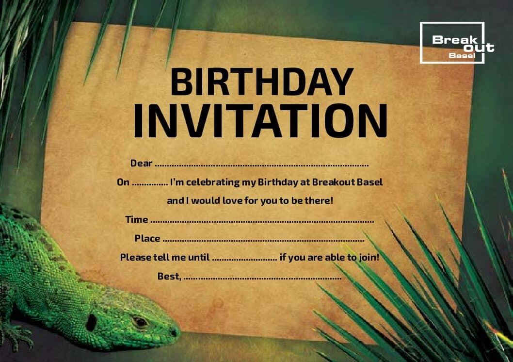 Die Geburtstagseinladung zum selber drucken